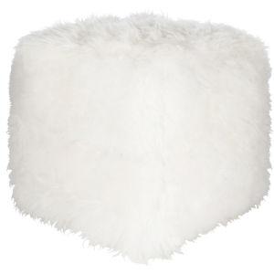 Bahati Cream 18-Inch Pouf