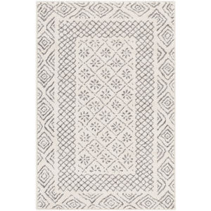 Bahar Medium Gray, Beige and Charcoal Square: 6 Ft. 7 In. x 6 Ft. 7 In. Rug