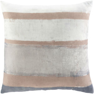 Balliano White and Khaki 20 x 20 Inch Throw Pillow