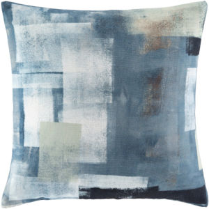 Balliano Aqua and White 20 x 20 Inch Throw Pillow