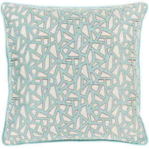 Biming Aqua 18-Inch Throw Pillow