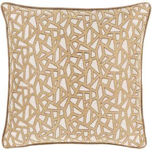 Biming Tan 22-Inch Throw Pillow