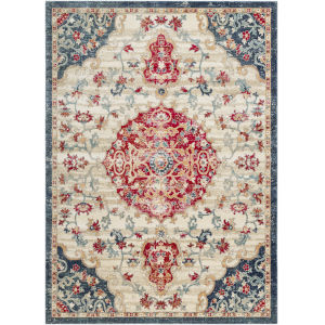 Bohemian Bright Red Rectangle 7 Ft. 10 In. x 9 Ft. 11 In. Rugs