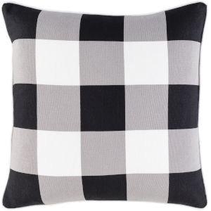 Buffalo Plaid Black 20-Inch Throw Pillow