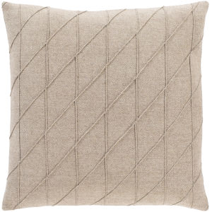 Brenley Camel 18-Inch Throw Pillow