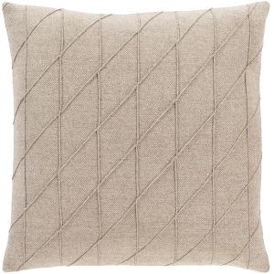 Brenley Camel 22-Inch Throw Pillow