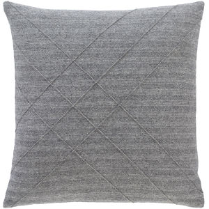 Brenley Charcoal 22-Inch Throw Pillow