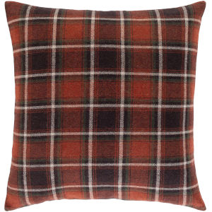 Brenley Dark Red 22-Inch Throw Pillow