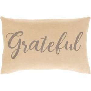 Blessings Tan 13-Inch Throw Pillow