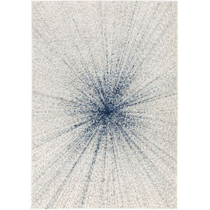 Chester Light Gray and Dark Blue Rectangle 6 Ft. 7 In. x 9 Ft. Rugs