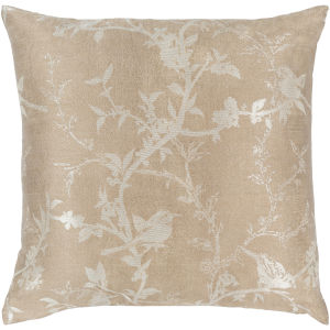 Calliope Tan 18-Inch Pillow With Down Fill