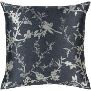 Calliope Charcoal 22-Inch Pillow With Down Fill