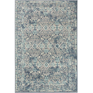 City Aqua Rectangle 7 Ft. 10 In. x 10 Ft. 3 In. Rugs