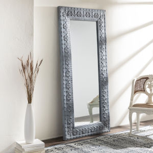 Capacious Gray Full Length Floor Mirror