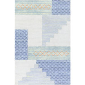 Didim Denim and Mint Rectangular: 6 Ft. x 9 Ft. Rug