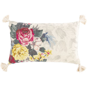 Daphne Multi-Color and Clear 14-Inch Throw Pillow