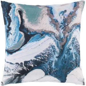 Ebru Multicolor 22 x 22 Inch Throw Pillow
