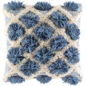 Edric Denim 20-Inch Throw Pillow