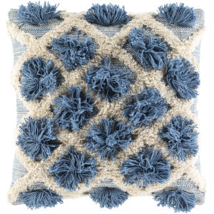 Edric Denim 22-Inch Throw Pillow