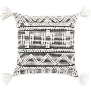Faroe White 18-Inch Pillow With Polyester Fill