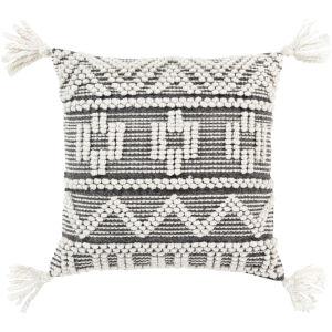 Faroe White 22-Inch Pillow Cover
