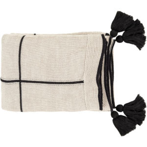 Fleck Black Throw