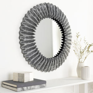 Ferrous Silver 27-Inch Wall Mirror