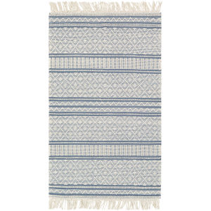 Farmhouse Tassels Blue Rectangular: 3 Ft. X 5 Ft. Rug