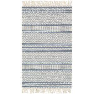 Farmhouse Tassels Blue Rectangular: 9 Ft. X 12 Ft. Rug
