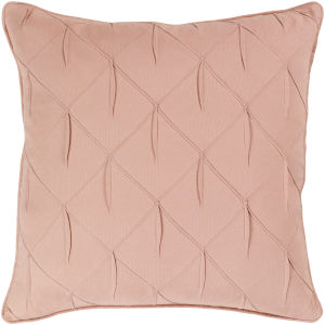 Gretchen Pale Pink 22-Inch Pillow With Polyester Fill