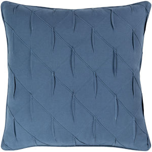 Gretchen Navy 20-Inch Pillow With Polyester Fill