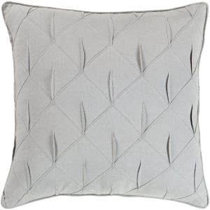 Gretchen Light Gray 18-Inch Pillow With Down Fill