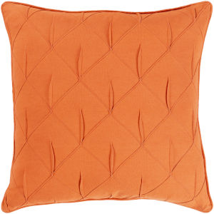 Gretchen Orange 22-Inch Pillow With Polyester Fill