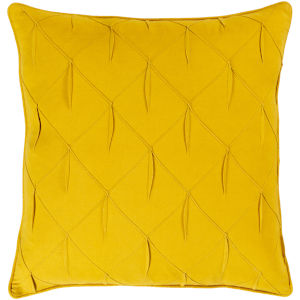 Gretchen Yellow 22-Inch Pillow With Polyester Fill
