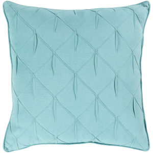 Gretchen Teal 20-Inch Pillow With Polyester Fill