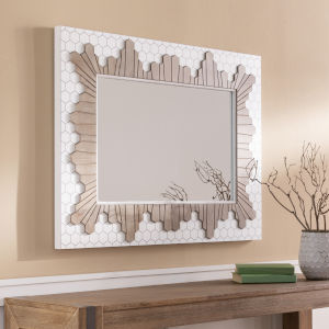 Genaro White Wall Mirror