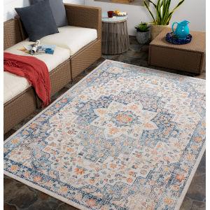 Huntington Beach Multicolor Rectangular: 7 Ft. 10 In. x 10 Ft. Indoor-Outdoor Rug