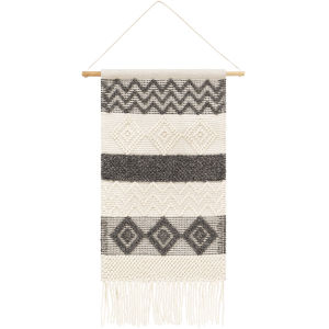 Hygge Charcoal and Cream Wall Hanging