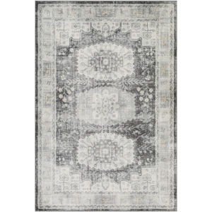 Indigo Light Gray and Taupe Rectangular: 7 Ft. 10 In. x 10 Ft. 2 In. Rug