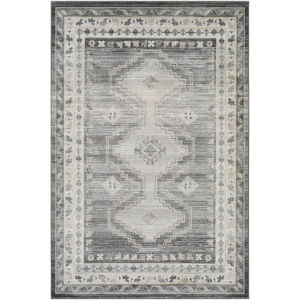 Indigo Taupe and Beige Rectangular: 6 Ft. 7 In. x 9 Ft. Rug