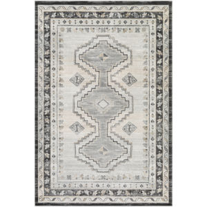 Indigo Charcoal and Khaki Rectangular: 7 Ft. 10 In. x 10 Ft. 2 In. Rug