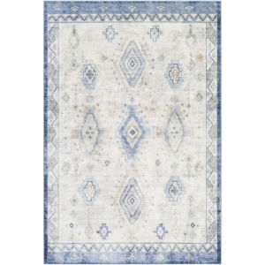 Indigo Denim and Taupe Rectangular: 7 Ft. 10 In. x 10 Ft. 2 In. Rug