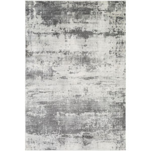 Indigo Charcoal and Taupe Rectangular: 6 Ft. 7 In. x 9 Ft. Rug