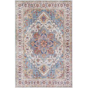 Iris Ice Blue Rectangle 3 Ft. 6 In. x 5 Ft. 6 In. Rug