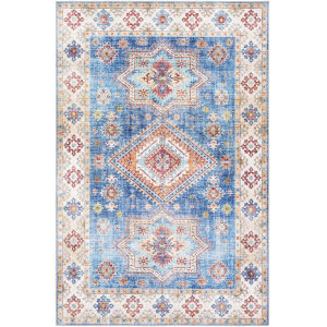 Iris Blue Rectangle 7 Ft. 6 In. x 9 Ft. 6 In. Rug