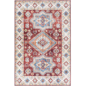 Iris Dark Red Rectangle 7 Ft. 6 In. x 9 Ft. 6 In. Rugs