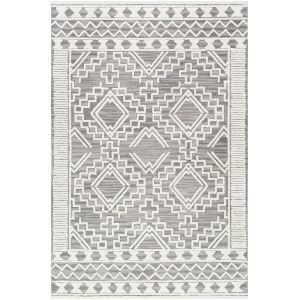 Izmir Charcoal Diamonds Rectangle 6 Ft. x 9 Ft. Rug