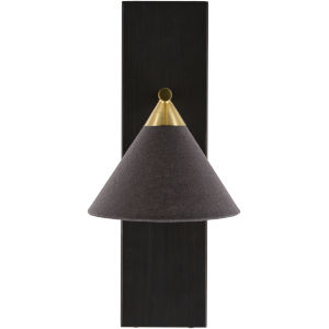 Jaleah Black 7-Inch One-Light Wall Sconce