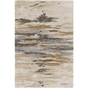 Kavita Beige, Brown and Denim Rectangular: 5 Ft. x 7 Ft. 6 In. Rug