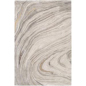 Kavita Light Gray and Ivory Rectangular: 5 Ft. x 7 Ft. 6 In. Rug